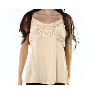 Beth Bowley NEW Gold White Womens Size 12 Sequined Striped Cami Top
