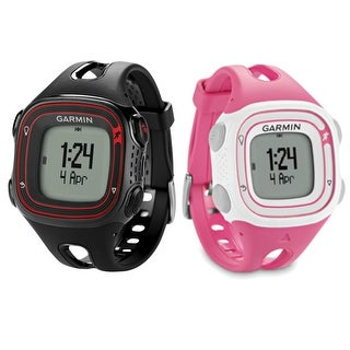 Forerunner 10 - 2-Pack (Black/Red & Pink/White) GPS Running Watch