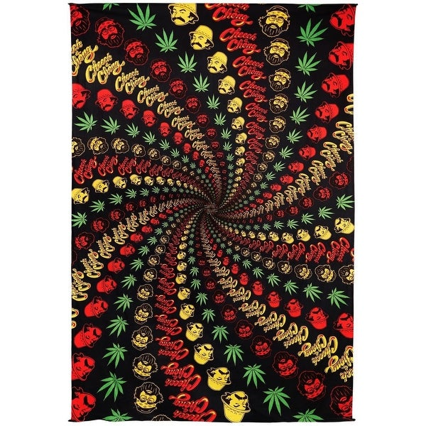 Handmade Cotton Cheech Chong Rasta Spiral Tapestry Tablecloth Spread 60x90 Inches