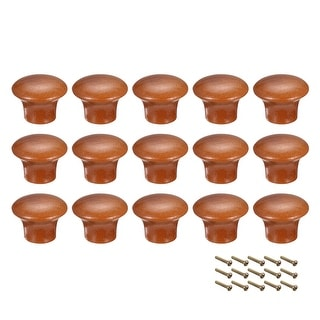 Round Pull Knob Handle 23mm Dia Cabinet Furniture Bedroom Kitchen Drawer 15pcs - 33mmx17mm(D*H)-15pcs