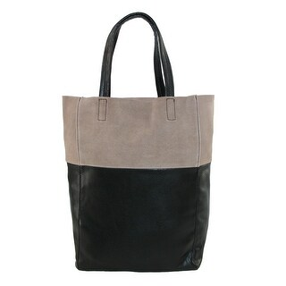 CTM® Women's Suede Top Tote Handbag - Black - One size