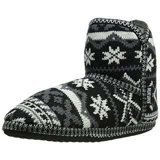 Muk Luks Womens Knit Faux Fur Mukluk Slippers
