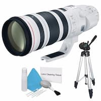 Canon EF 200-400mm f/4L IS USM Lens (International Model) + Deluxe Cleaning Kit + Full Size Tripod Bundle