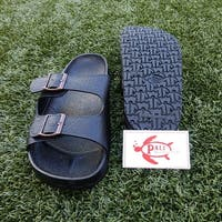 Pali Hawaii BUCKLE BLACK Sandals with Certificate of Authenticity