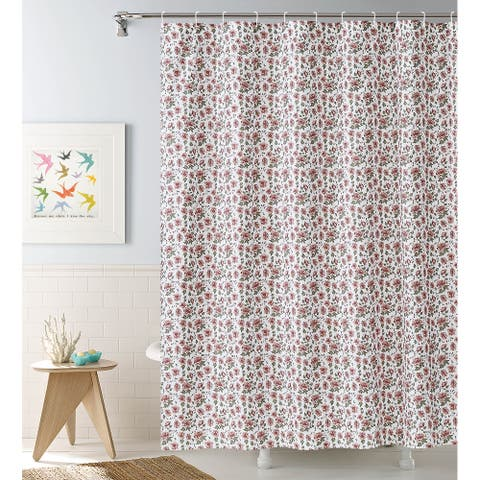 Pink Roses 13-piece Shower Curtain Set