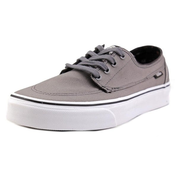 Vans Brigata Men Round Toe Canvas Gray Sneakers