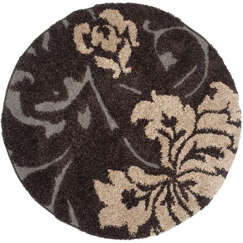 SAFAVIEH Florida Shag Hilde Floral 1.2-inch Thick Rug