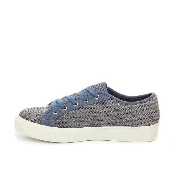 MIA Womens Vicky Fabric Low Top Lace Up Fashion Sneakers