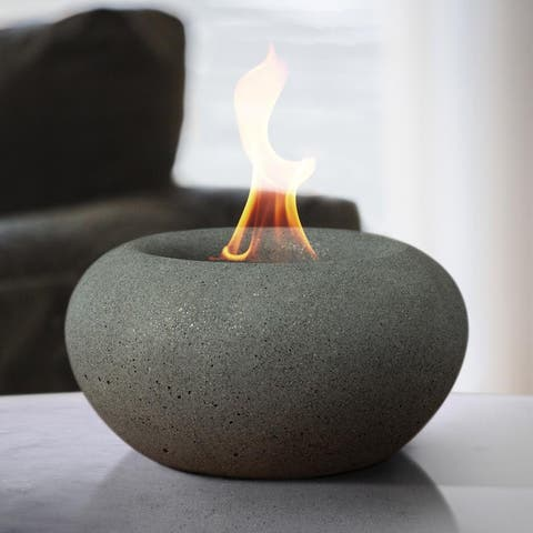 Stone Table Top Fire Bowl - Stone Fire Bowl
