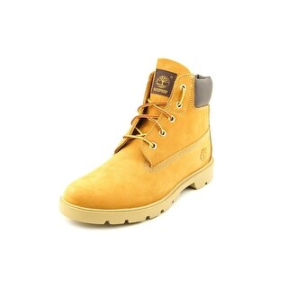 "Timberland 6"" Basic Waterproof Youth Round Toe Leather Tan Work Boot"