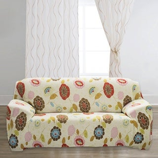 Unique Bargains Flower Pattern Spandex Stretch Flower 6 Sofa Slipcovers