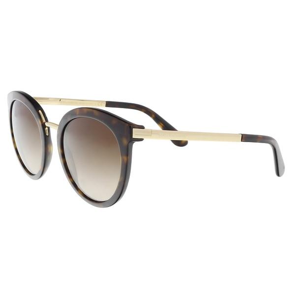 104a533c5185 Shop Dolce   Gabbana DG4268 502 13 Havana Cat Eye Sunglasses - 52-22 ...