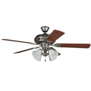 Craftmade ceiling fans for less overstock craftmade gd52an5c grandeur 52 5 blade indoor ceiling fan with light kit and blades included mozeypictures Images