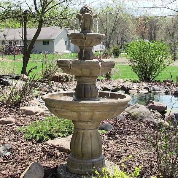 Water Fountain Garden: Sunnydaze Three Tier Outdoor Water Fountain