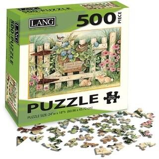 "Jigsaw Puzzle 500 Pieces 24""X18""-Garden Gate"