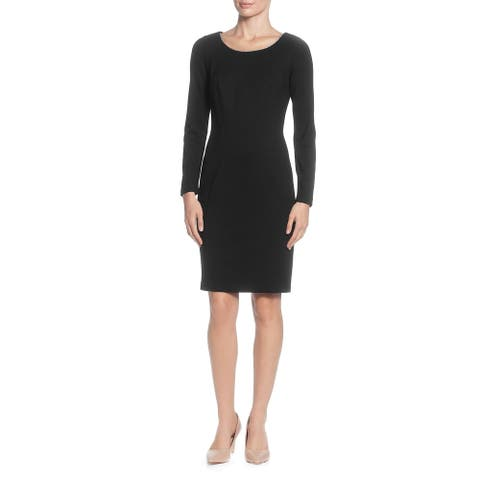 T Tahari Womens Wear to Work Dress Metallic Scoop Neck