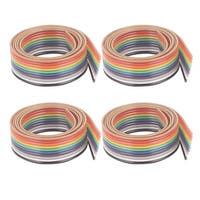 1.27mm Pitch 10 Way Ribbon Breadboard Jumper Cable Wire Rainbow Color 50CM 4 Pcs