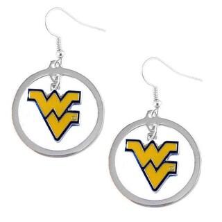 West Virginia Mountaineers Hoop Logo Earring Set NCAA Charm