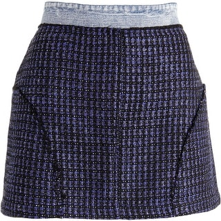 Juicy Couture Black Label Womens Tweed Steven Wash Mini Skirt - 8