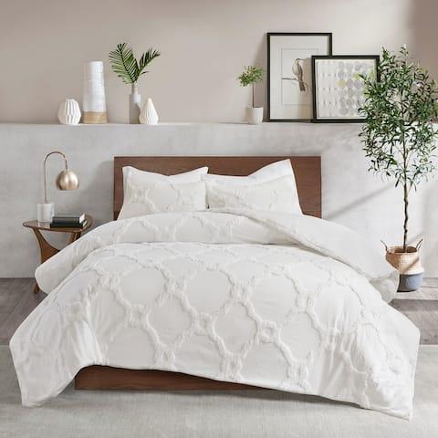Madison Park Nollie Tufted Cotton Chenille Geometric Comforter Set