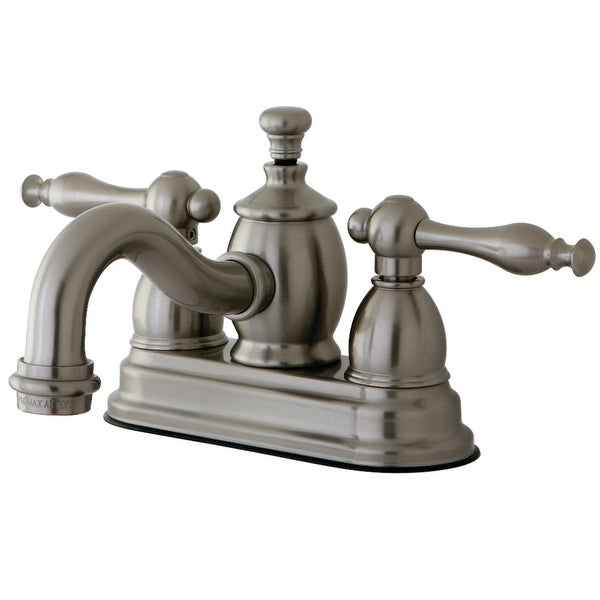 Kingston Brass KS710.NL Naples 1.2 GPM Centerset Bathroom Faucet with Pop-Up Drain Assembly and Metal Handles - Polished Chrome