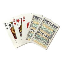 Portland, Oregon - Typography - LP Artwork (Poker Playing Cards Deck)