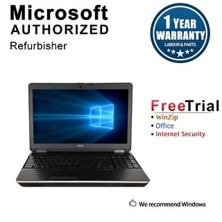 "Refurbished Dell Latitude E6440 14.0"" Laptop Intel Core i5 4300M 2.6G 4G DDR3 320G DVDRW Win 7 Pro 64 1 Year Warranty - Silver"