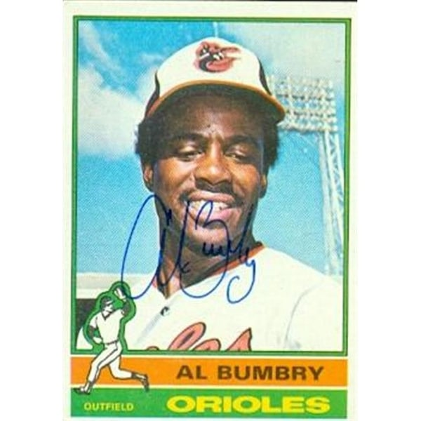 Al Bumbry Autographed Baseball Card Baltimore Orioles 1976 Topps N