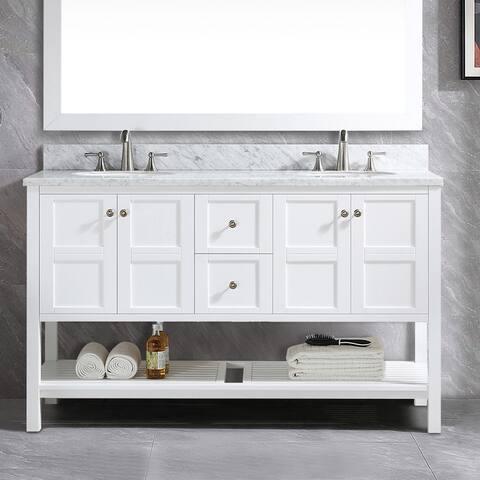 """Proox 60"""" Modern Double Sink Bathroom Vanity Set"""