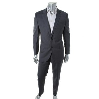 BOSS Hugo Boss Mens Huge3/Genius2 Wool Plaid Two-Button Suit - 42R