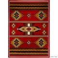"Allstar Red Woven High Quality Rug. Traditional. Persian. Flower. Western. Design Area Rug (3' 9"" x 5' 1"") - Thumbnail 6"