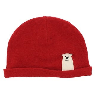 The North Face Baby Boys Friendly Faces Polar Bear Beanie Red XS - Red/Off White