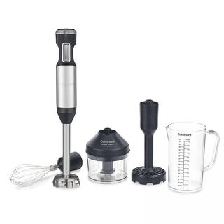 Cuisinart CSB-100 Smart Stick® Variable Speed Hand Blender With Potato Masher, Stainless Steel