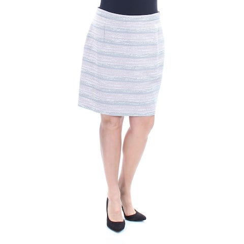 2752fa1a89f6 TAHARI Womens Gray Striped Above The Knee Pencil Wear To Work Skirt Petites  Size: 14
