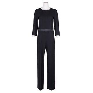 Maison Margiela Women's Black Wool Full Length Straight Jumpsuit
