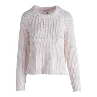 Impulse Womens Crochet Hi-Low Hem Pullover Sweater