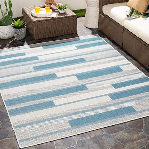 Perkins Indoor/ Outdoor Color Block Area Rug