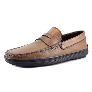 Tod's Mocassino Marlin Hyannisport Youth Moc Toe Suede Brown Loafer