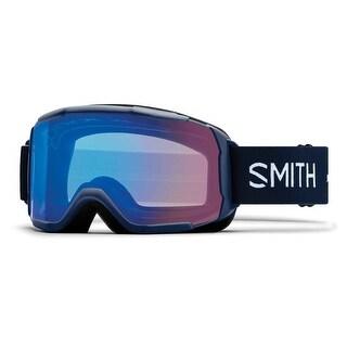 Smith Optics 2017/18 Womens Showcase OTG Asian Fit Goggle - Navy Micro Floral Frame, ChromaPop Storm Rose Flash Lens