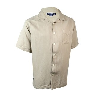 Cremieux Men's Classics Sunwashed Silk/Linen Camp Shirt