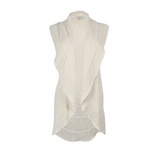 California Bloom Women 39 S White Sleeveless Asymmetric Cardigan Free Shipping On Orders Over 45