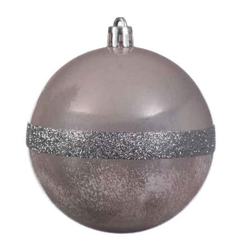Soft Pink Shatterproof Ball Ornament