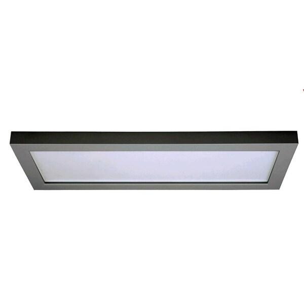 """Nuvo Lighting S9369 Blink 1-Light 18"""" Wide LED Flush Mount Ceiling Fixture - White"""