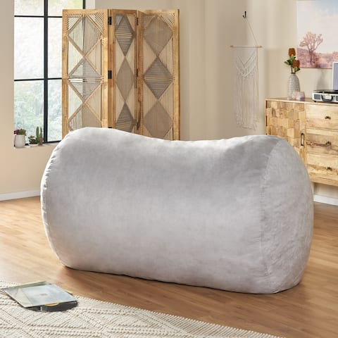 Asher Traditional 6.5 Foot Suede Bean Bag Chair by Christopher Knight Home