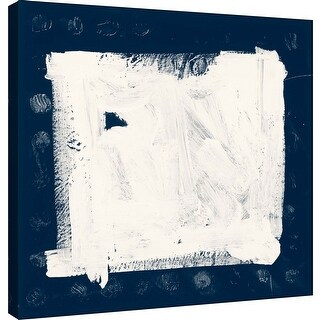 """PTM Images 9-100919  PTM Canvas Collection 12"""" x 12"""" - """"Indigo M"""" Giclee Abstract Art Print on Canvas"""