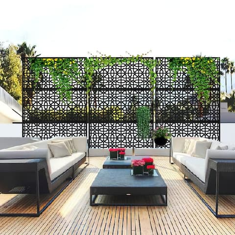 Metal Privacy Screen Panel Free Standing - 76x47