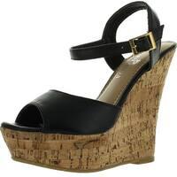 Spirit Moda Ava-3 Women Ankle Strap Wedges Sandals