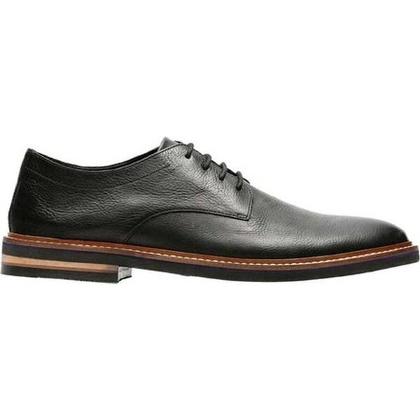 Dezmin Plain Toe Derby Black Leather