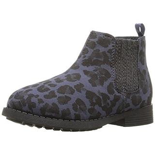 Osh Kosh Girls Eden Printed Glitter Chelsea Boots