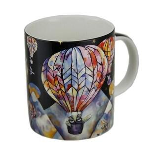 Allen Designs Colorful Hot Air Balloon Ceramic Coffee Cup 10 oz.